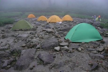 黒部五郎のテント場