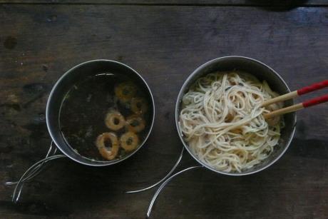 28日の朝食スパゲティ