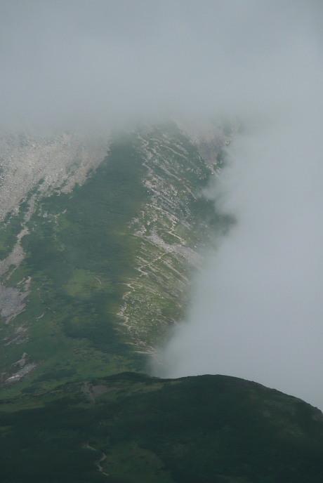 黒部五郎岳の大斜面