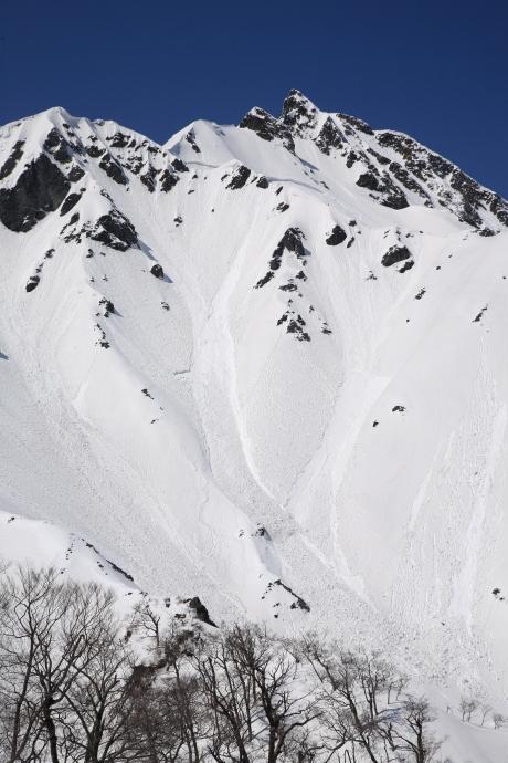 冬の伯耆大山東壁