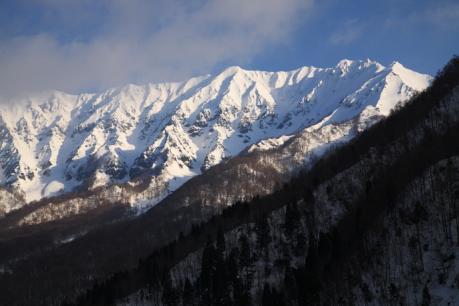 冬の伯耆大山南壁