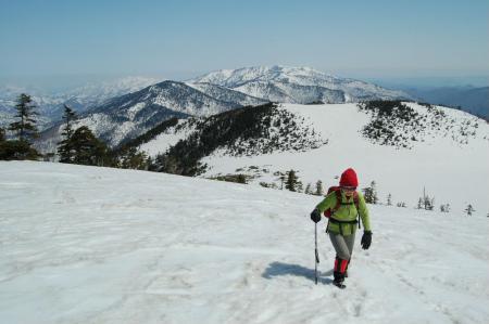 15熊沢田代から燧ヶ岳への登り
