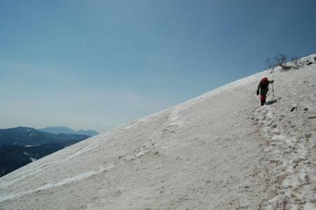 16熊沢田代から燧ヶ岳への登り