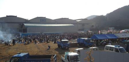 2011焼き牡蠣会場