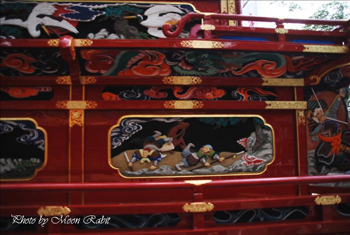 (西条祭り関係) 天皇陛下御即位20周年奉祝 本町御供だんじり(屋台) 愛媛県西条市中野 伊曽乃神社 天皇誕生日2009年12月23日