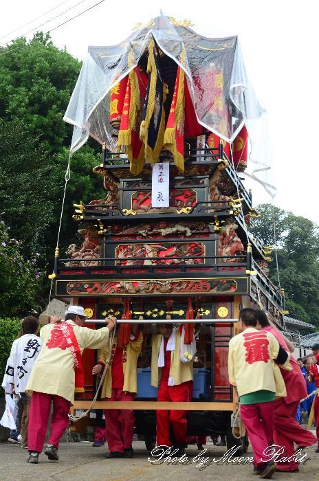 石岡神社祭礼2011 本殿祭 裏組だんじり(屋台・楽車) 愛媛県西条市氷見