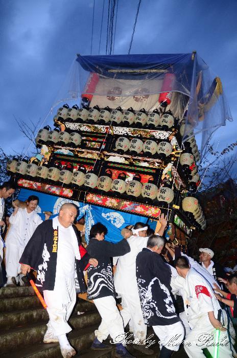 西条祭り 階段下し 常心上組だんじり(大南屋台・楽車) 伊曽乃神社祭礼 宮出し