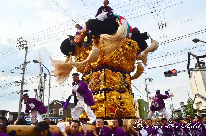 多喜浜駅前かき比べ 白浜太鼓台 新居浜太鼓祭り2011
