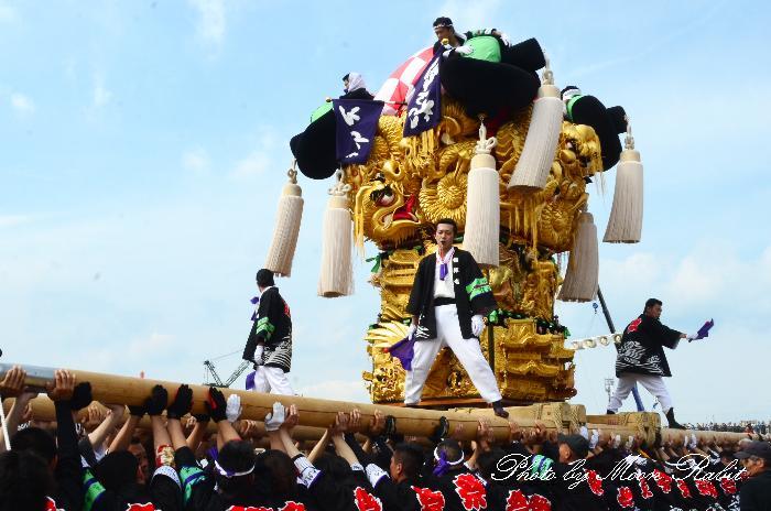 垣生本郷太鼓台 国領川河川敷公園かきくらべ 新居浜太鼓祭り2011