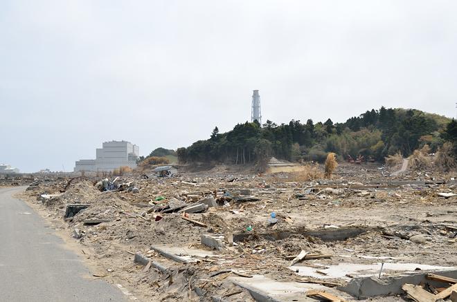 津波と住宅地1