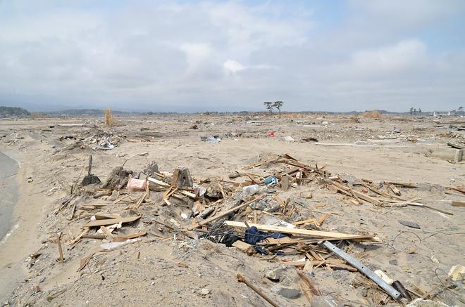 津波と住宅地2