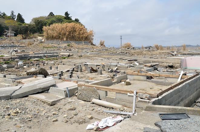 津波と住宅地3
