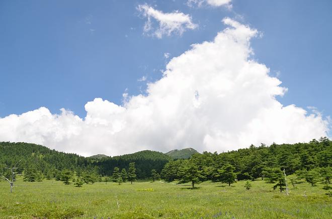 湯の丸高原の雲