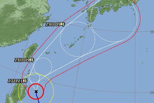 台風2号|西表島