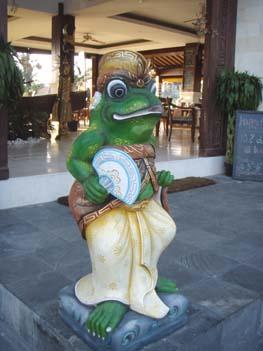 ウブドのカエル