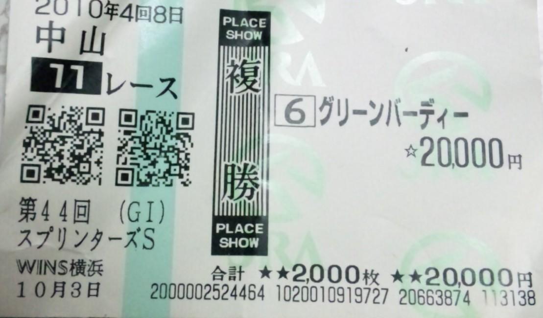 2010 スプリンターズS