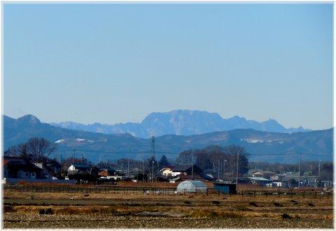 この辺りからは両神山が良く見えるんだ