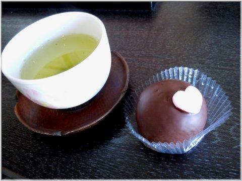 バレンタインバージョンのチョコ苺大福