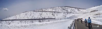 ことしの壁は大きかったです(雪もタイムも)@ツールド草津