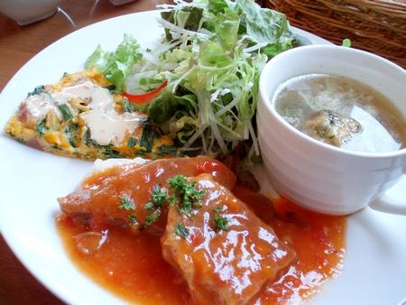 豚肉のミラノ風トマト煮@はとふら(毛呂山町)