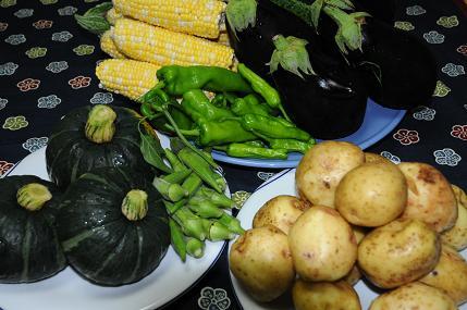 野菜の大盛り