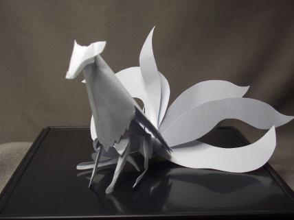 切り折り紙 九尾の狐