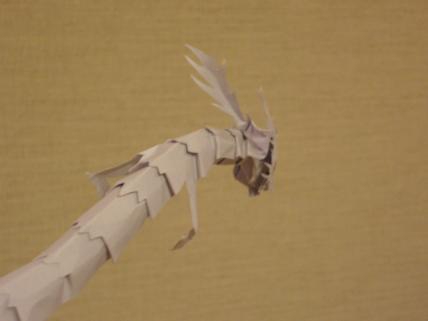 切り折り紙 龍