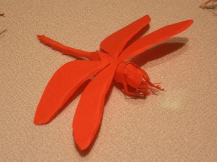 切り折り紙 トンボ