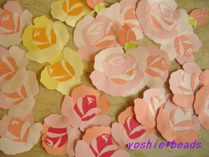 切り紙 バラ