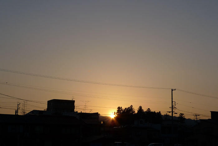 夕日 夕陽 ひだ 高山 日之本元極