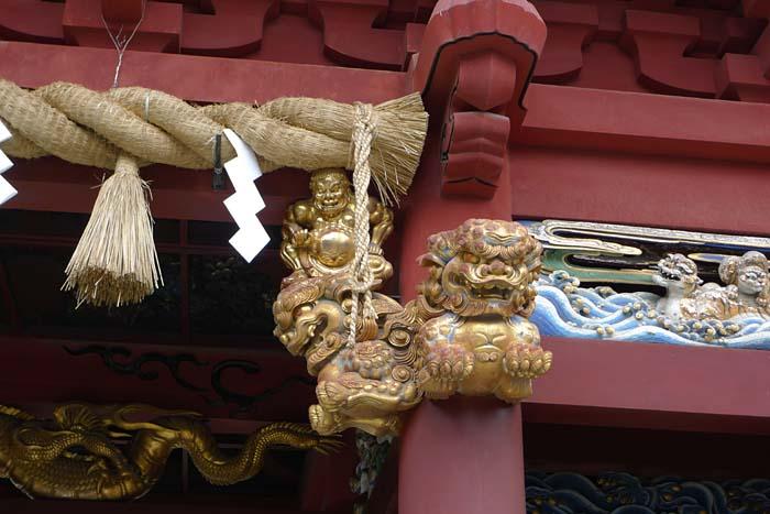 静岡 浅間神社 門 彫刻 日之本元極