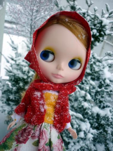 レンズにも雪がついちゃったよ。