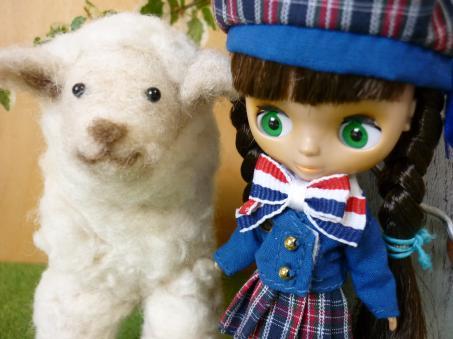 犬っぽいお顔の羊だね~。