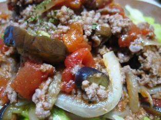 茄子とひき肉ごはん2