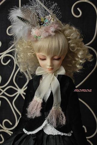 鳥籠ヘッドドレス・ピンク