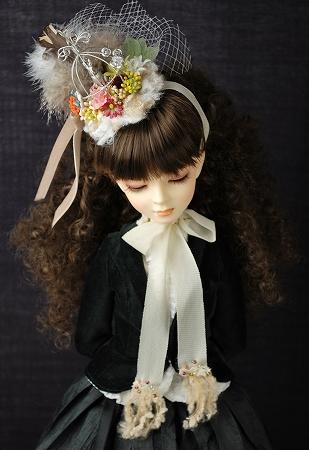 鳥籠ヘッドドレス・ベージュ