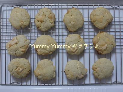 ちょりママのクッキー(ホワイトチョコで)♪