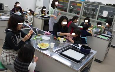 2010バレンタイン親子クッキングセミナー♪スコーン試食中