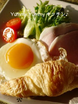 クロワッサンで朝食♪