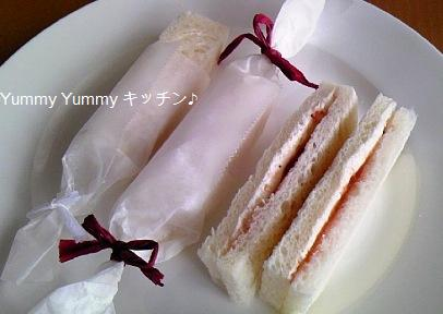 22日レシピ サワークリーム&ジャムのスティックサンド♪