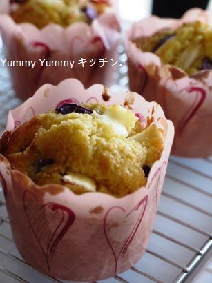 紫芋とりんごのクリームチーズマフィン♪