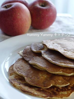 シナモン香る☆刻みリンゴのパンケーキ♪