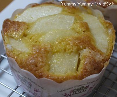 洋梨のクリームチーズマフィン♪