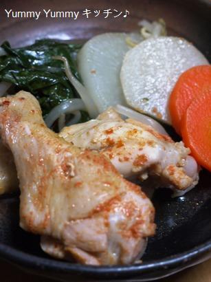 鶏の手羽元と野菜たっぷりキムチ鍋 取り皿