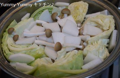 豚バラと大根キャベツのあっさり鍋♪準備1