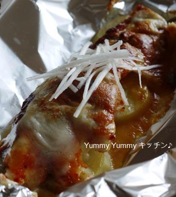 鱈とじゃが芋のキム味噌チーズ焼き♪ブログ用