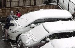 雪遊びをする子供たち♪