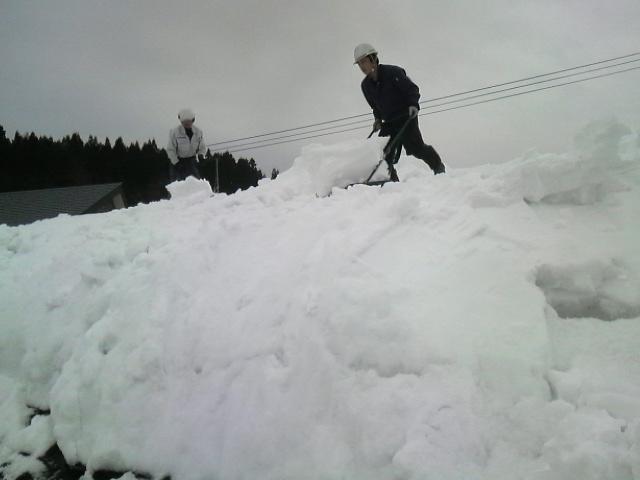 100120雪降ろし