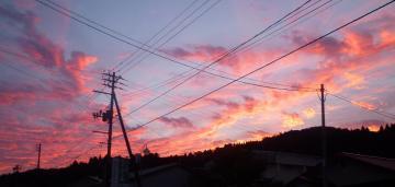 20101029越路の夕日