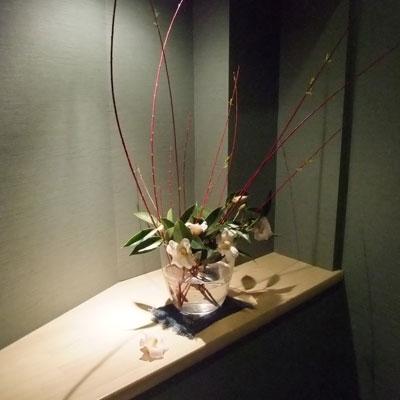 竹の四季・お手洗いのお花